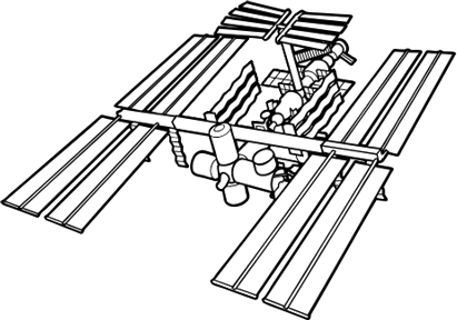 International Space Station Sketch